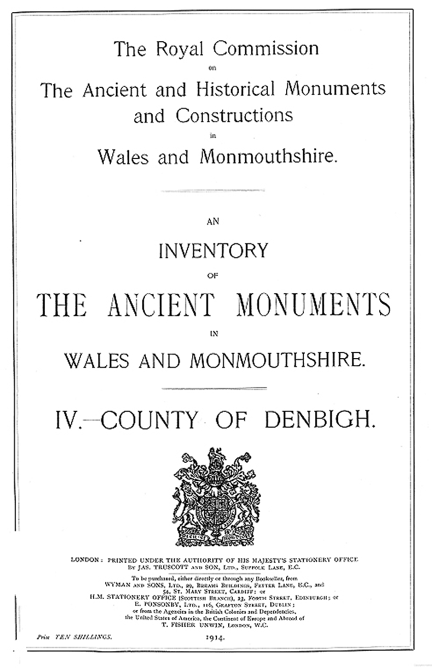 Denbighshire - An Inventory of the Ancient Monuments in the County