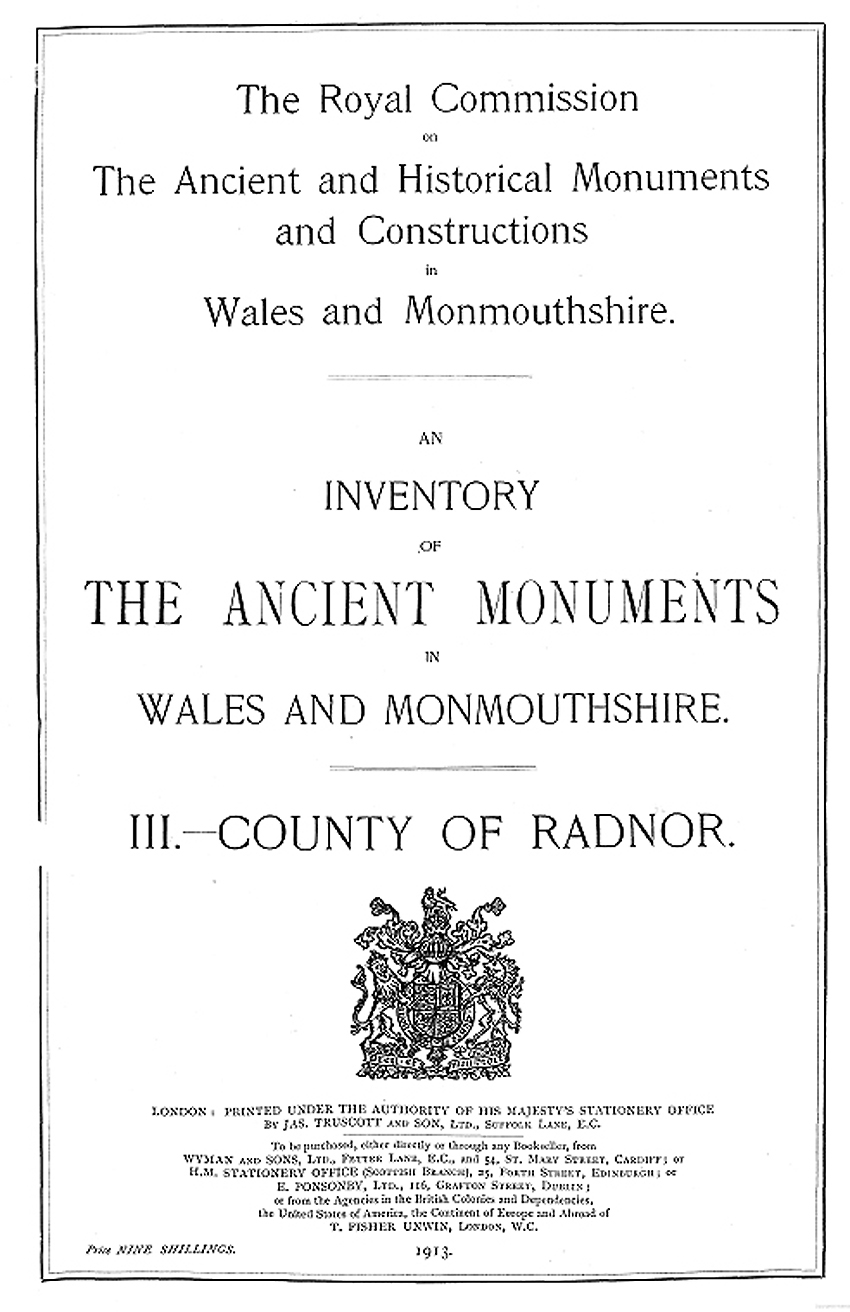 Radnorshire - An Inventory of the Ancient Monuments in the County