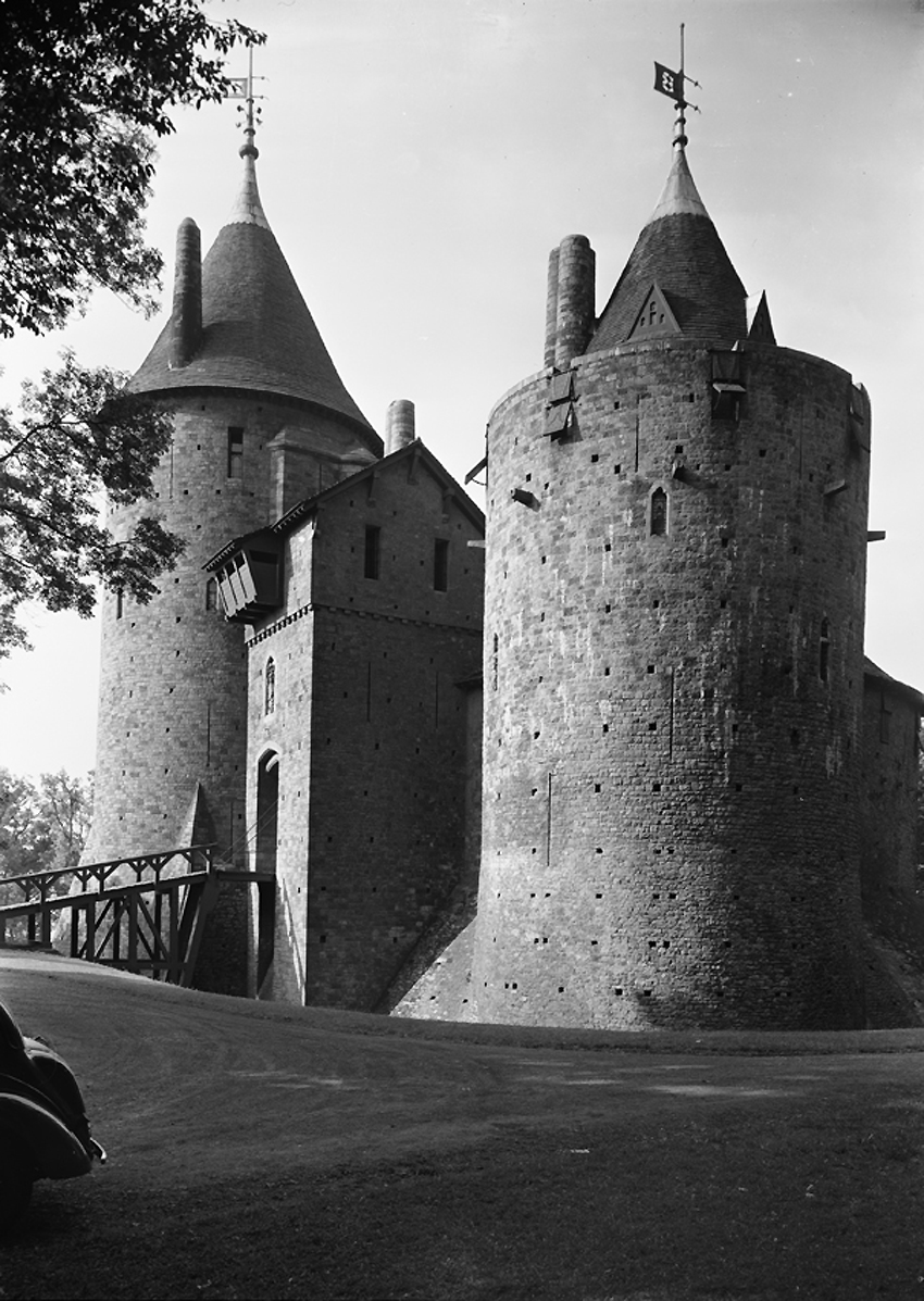 View of Castell Coch photographed in 1952.