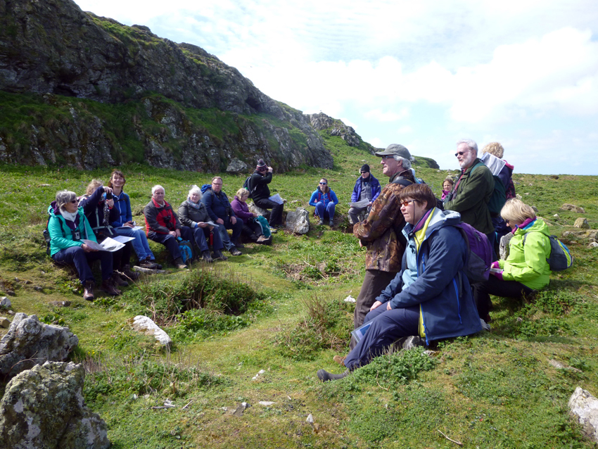 The group gathered in one of the settlements on the island, Hut 20 at the Wick.