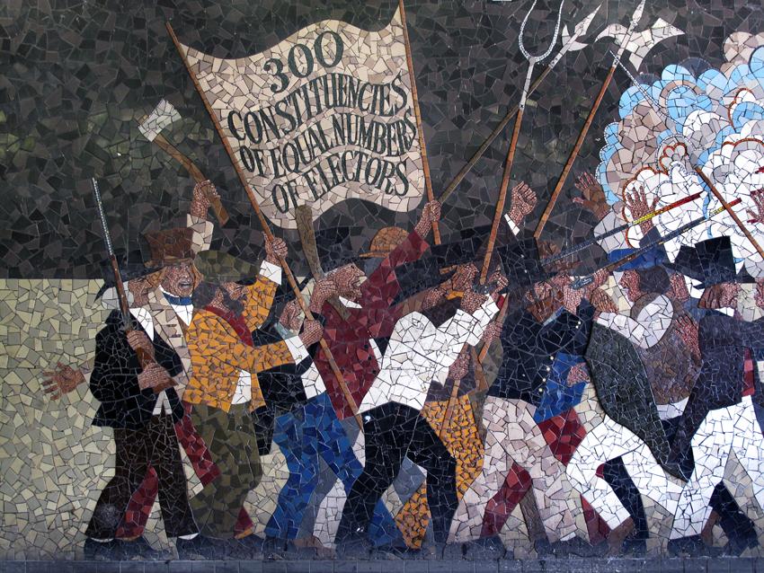 Rcahmw rhestr o feysydd brwydro hanesyddol yng nghymru for Chartist mural newport