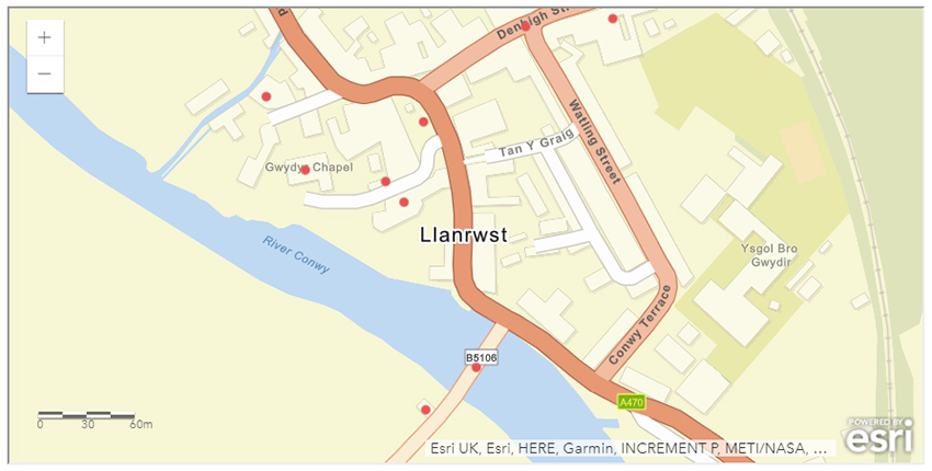 Brand-New Map of Historic Places in Llanrwst