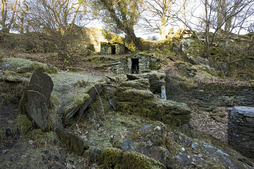 Investigators Digital Photograph Ruined Quarrymans Cottages Betws-y-coed