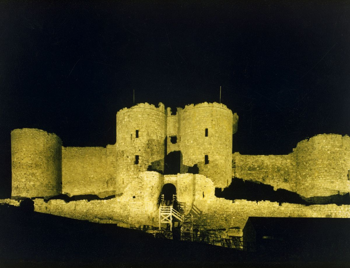 Harlech Castle supposedly built on or near the site where Pryderi brought back Bendigeidfran's head from Ireland