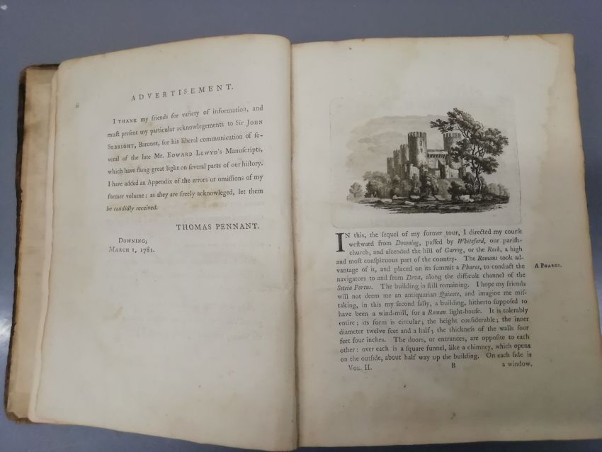 Thomas Pennant A Tour in Wales, Vol. II. London Henry Hughes (1st Edition, 1783)